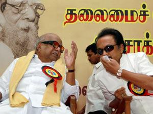Karunanidhi with Stalin