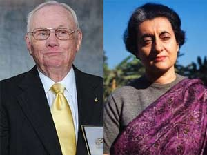 Neil Armstrong and Indira Gandhi
