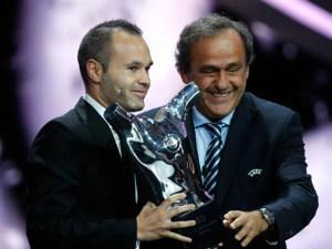 Iniesta wins best player in Europe award