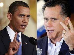 Barack Obama and Romney