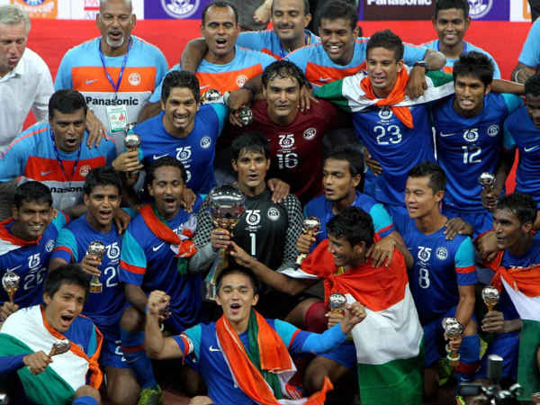 A hat-trick of Nehru Cup titles for Ind