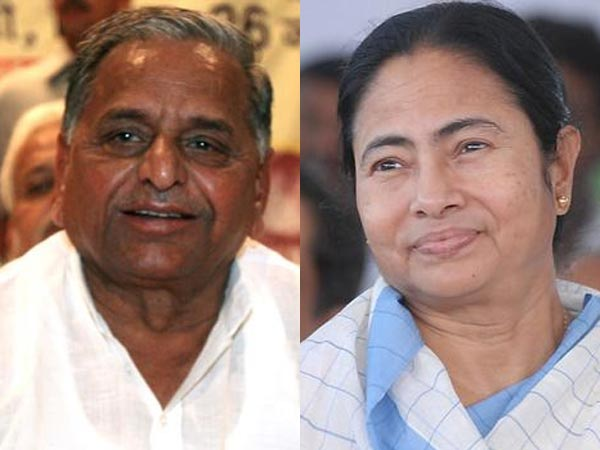 Mulayam Singh Yadav and Mamta Banerjee