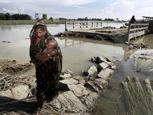 flood assam lady