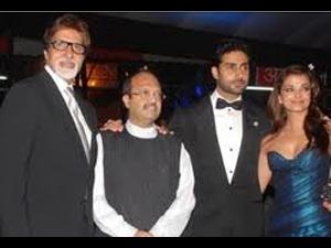 Amar Singh with the Bachchans