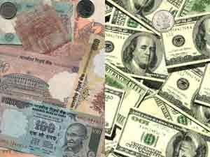 Rupee falls 8 paise against dollar