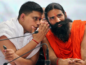Ramdev with aide
