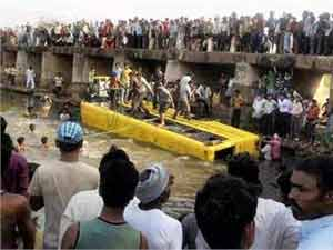 18 killed as bus falls into Purna river