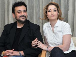 Adnan Samy with Wife