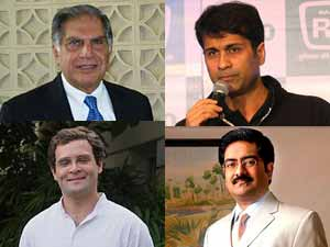 Tata, Bajaj, Birla with Rahul