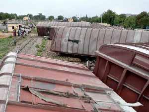 Goods Train Derailed
