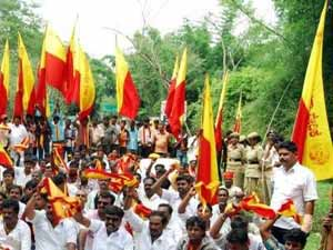 Cauvery issue: Protest