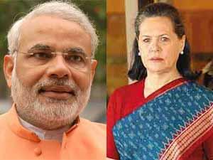 Narendra Modi and Sonia Gandhi
