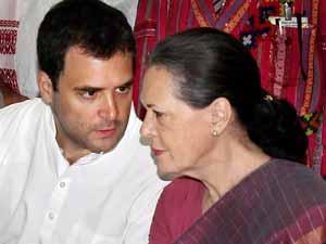 Rahul Gandhi with Sonia