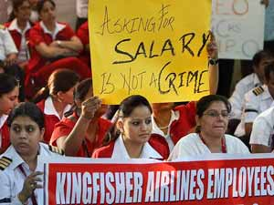 Kingfisher employees protest