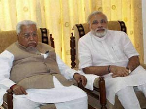 Keshubhai Patel with Modi