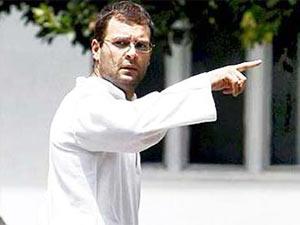 Rahul Gandhi finger