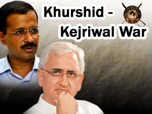 Kejriwal and Khurshid