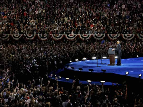 Obama stands tall in his victory