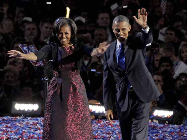 Gentleman Obama with his first lady Michelle