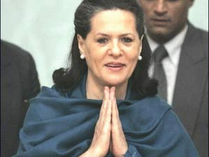 Sonia Gandhi Welcome