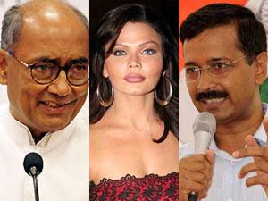 Diggy, Rakhi and Kejriwal
