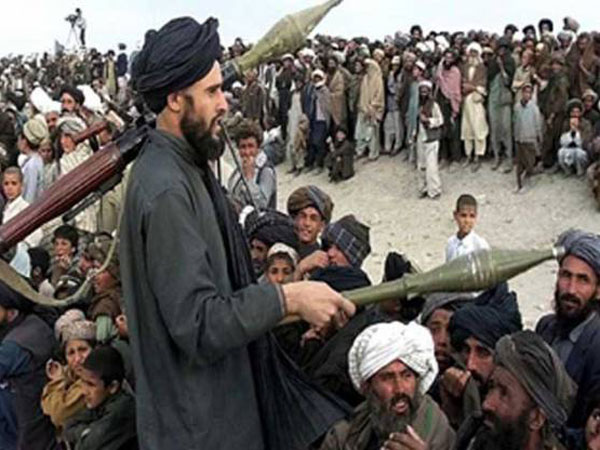 Taliban militants at a rally in Pakistan