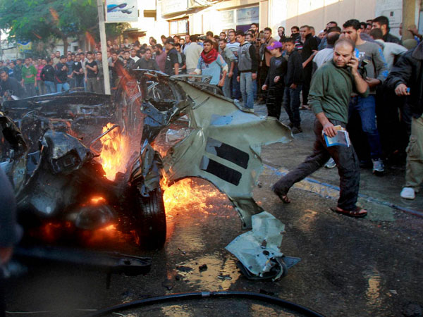 Car explosion in Gaza City