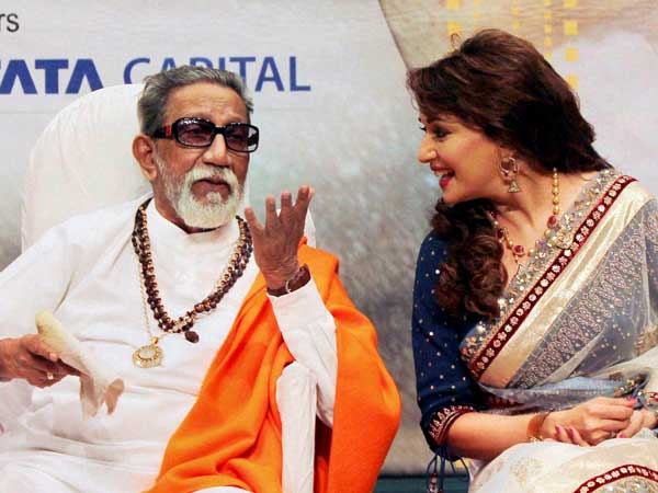 Madhuri Dikshit with Bal Thackeray