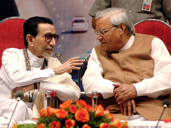 Vajpayee with Bal Thackeray
