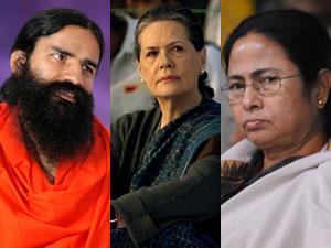 Ramdev, Sonia, Mamata