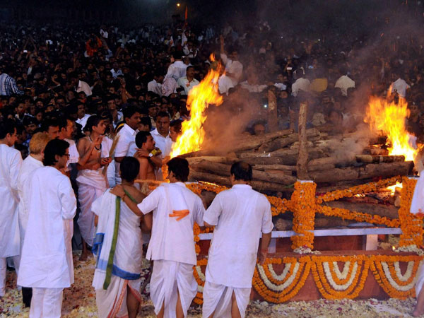 Bal Thackeray's funeral