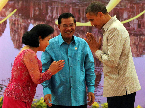 Obama during gala dinner in Cambodia