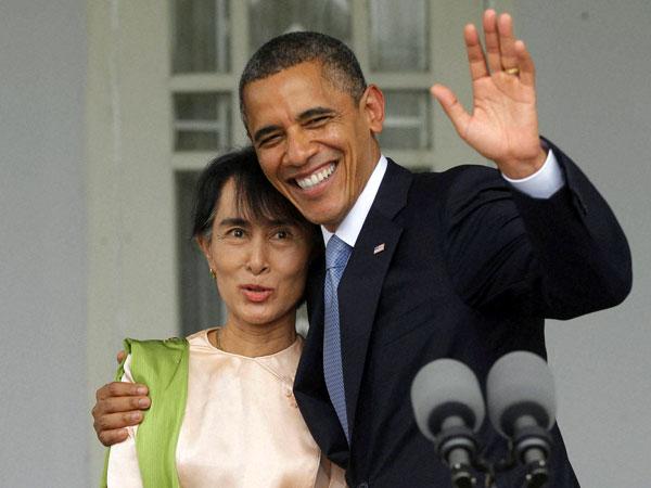 President Obama meets Suu Kyi