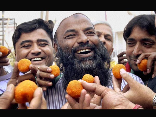 Celebration over Kasab's execution