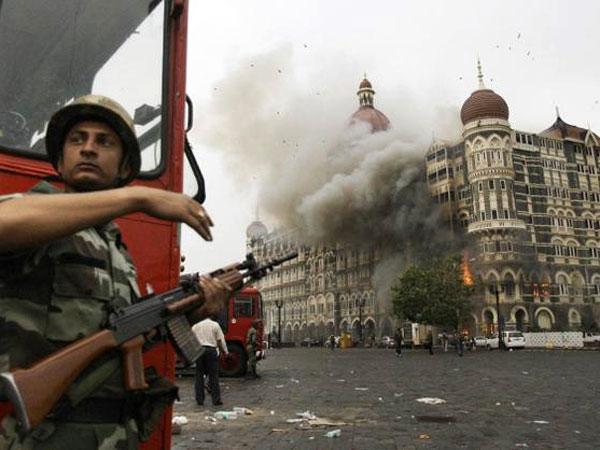 Police at Taj Hotel
