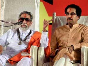 Bal Thackeray with Uddhav