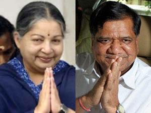 Jayalalithaa and Jagadish Shettar