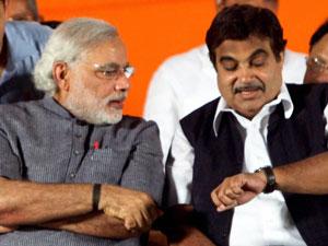 Modi with Gadkari