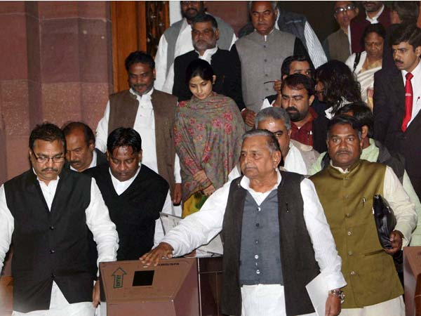 BSP, SP walkout before FDI vote in LS