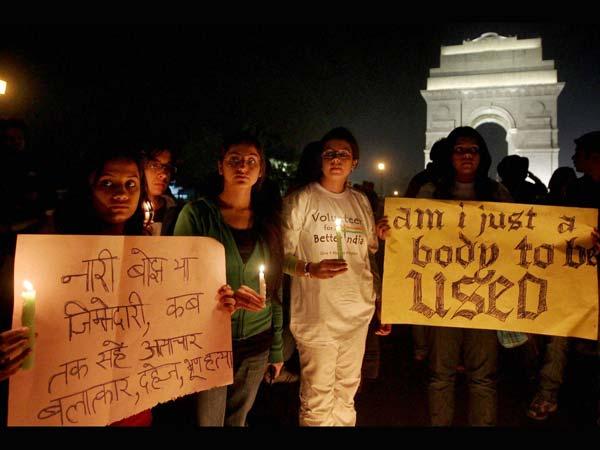 Gang rape: protest