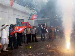 BJP Workers Celebrates