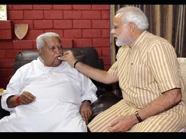 Modi's sweets for Keshubhai and Patels