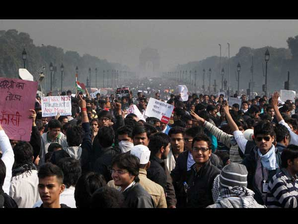 Delhi flooded with protest