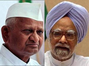 Anna Hazare Manmohan Singh