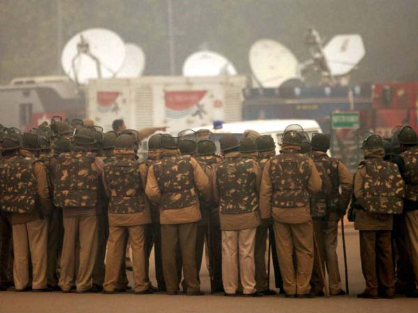 Police Personnel Deployed at rajpath