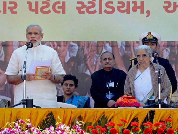 Narendra Modi becomes Gujarat CM for 4th successive term