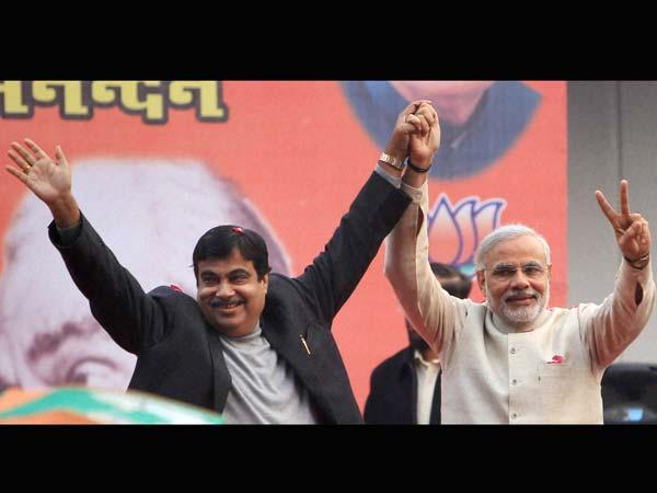 Nitin Gadkari and Narendra Modi