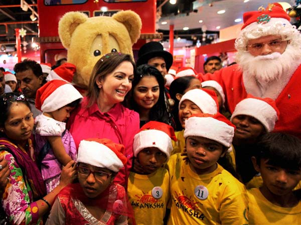 The Ambanis celebrate Christmas in Mumbai