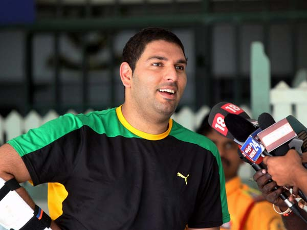 Yuvraj Singh returns to the park after battling cancer