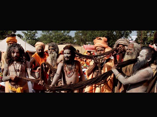 Juna Akhada Naga Sadhus flaunt their hair